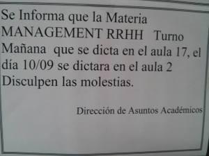management rrhh